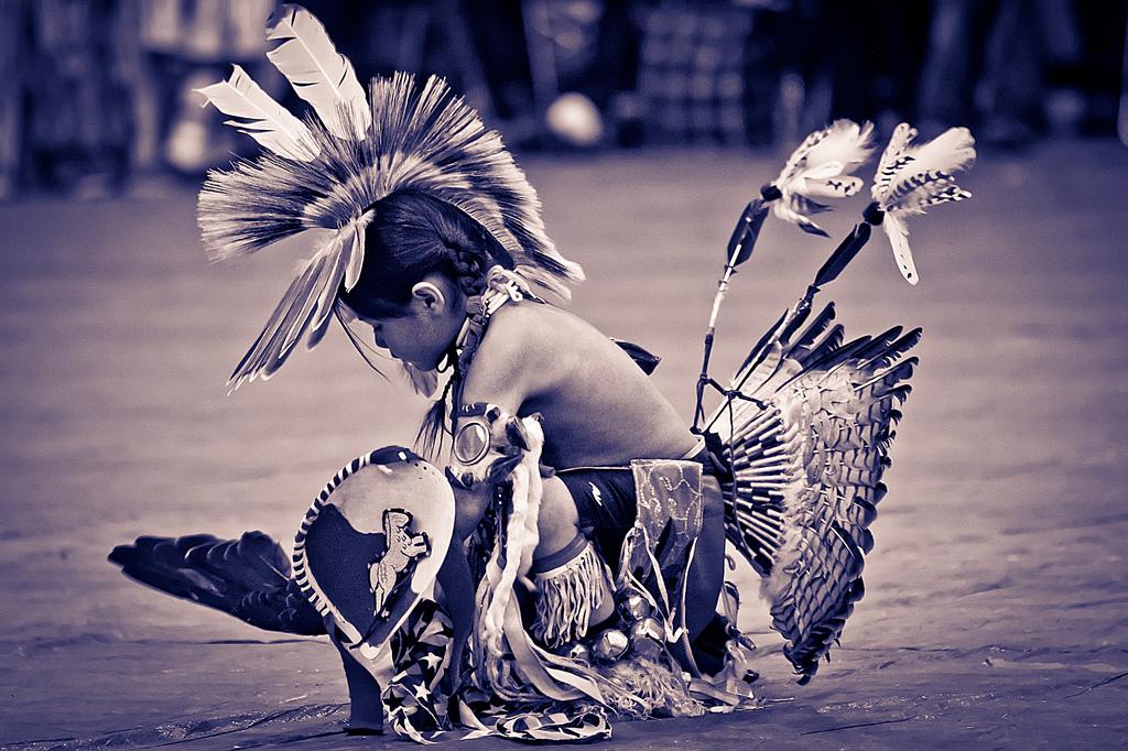 Індіанець Навахо у традиційному вбранні