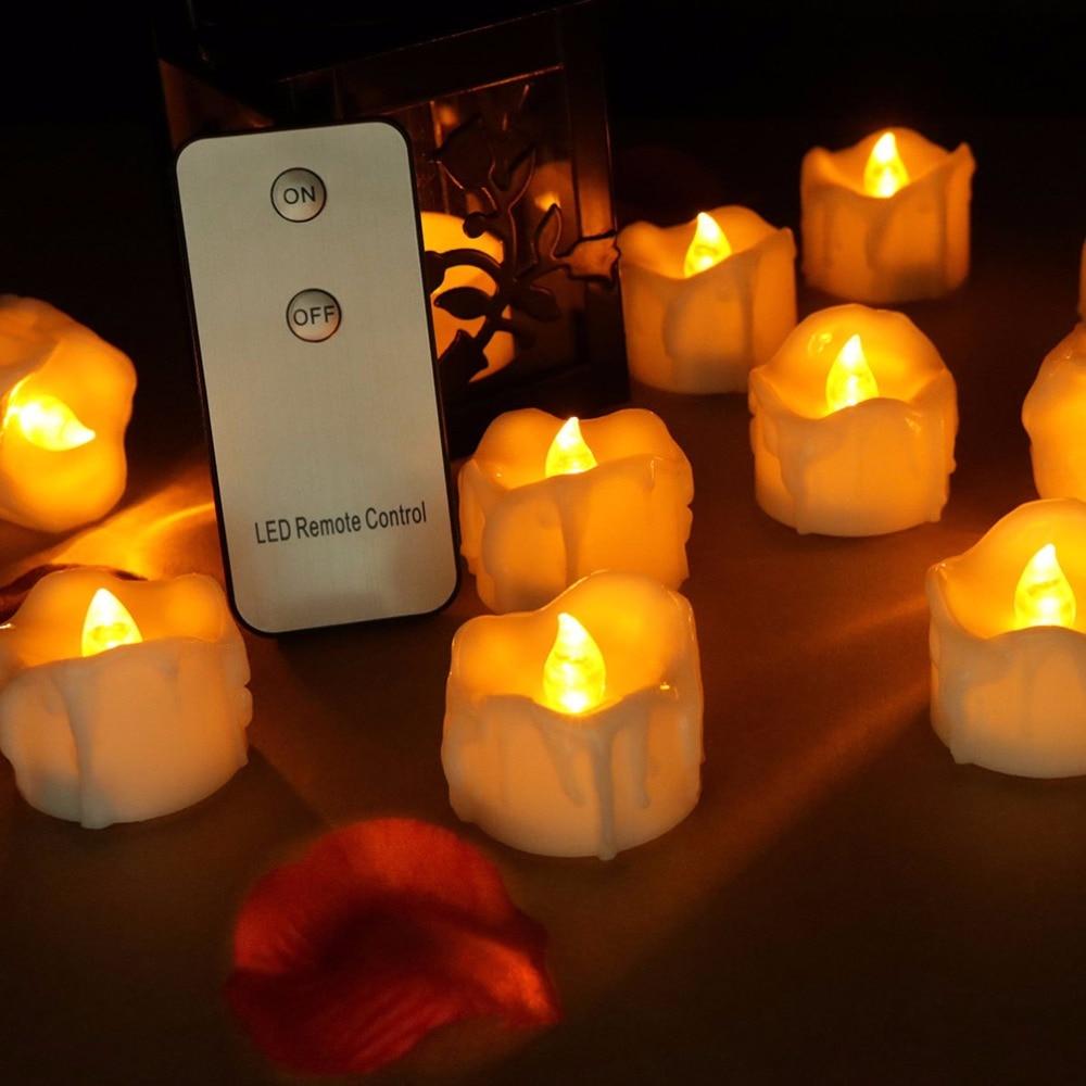 Світлодіодні свічки на пульті