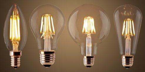 ретро лампочки